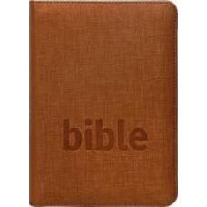 Bible Český studijní překlad, zip, mosazná barva