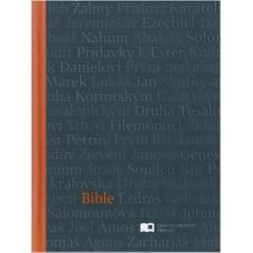 Bible ekumenická, malý formát, šedo-oranžová barva