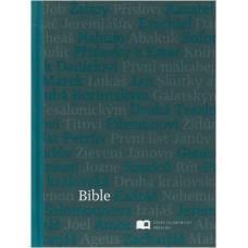 Bible ekumenická, malý formát, šedo-modrá barva