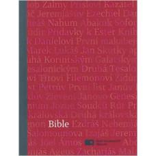 Bible ekumenická, malý formát, červená barva