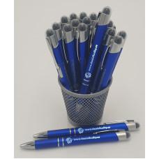 Kuličkové pero, modré, svítící logo