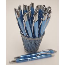 Kuličkové pero metallické světle modré